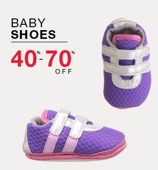 Baby shoes : 40% to 70% off