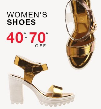 Women's shoes : 40% to 70% off