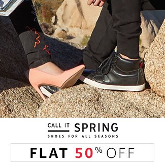Call it Spring: Flat 50% off