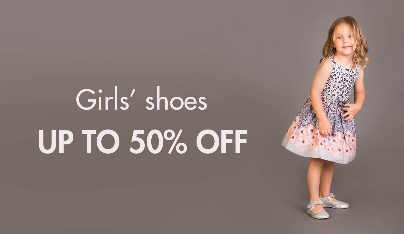 Girls' shoes : Up to 50% off