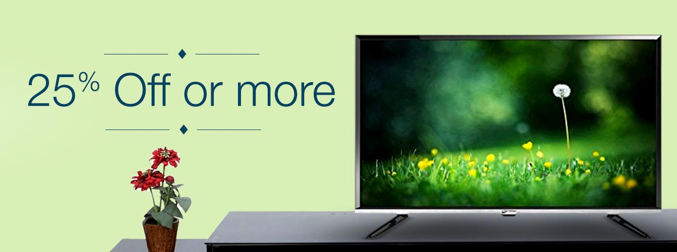 Tvs 25% off or more