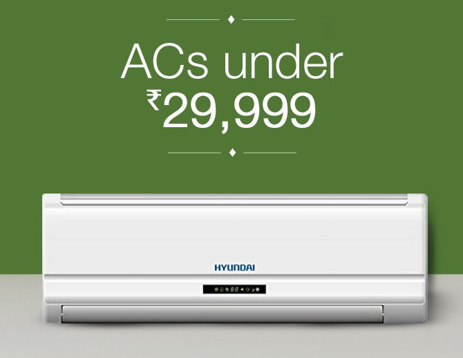 ACs under Rs. 29,999