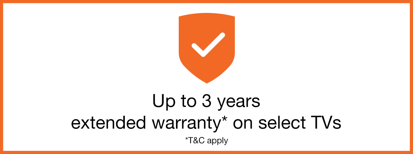 up to 3 years extended warranty