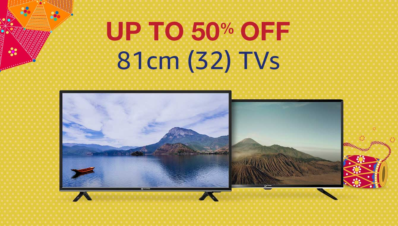 Up to 50% off (32) TVs