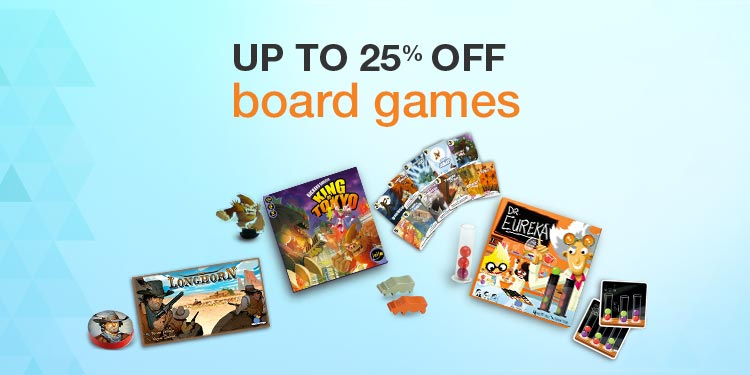 Up to 25% OFF on board games