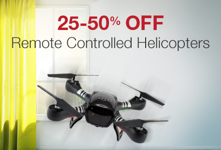 25-50% off Helicopters