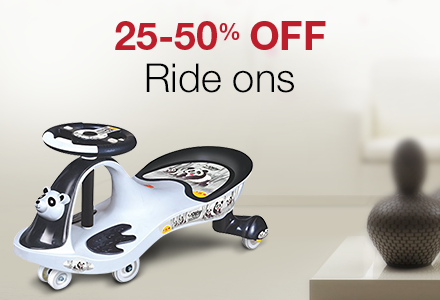 25-50% off Ride-ons