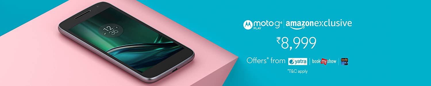 Moto G Play 4th Gen (Black, VoLTE) at Rs 8999 only