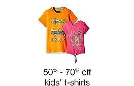 Kids' t-shirts 50% - 70% off