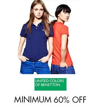 United colors of Benetton - Minimum 60% off