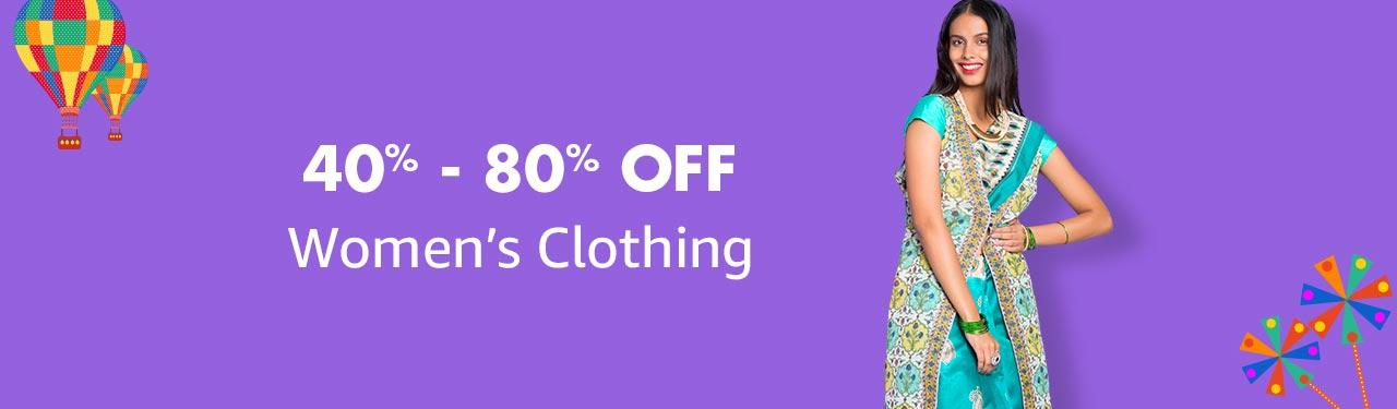 Women's clothing 40% - 80% off