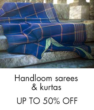 Handloom sarees & Kurtas