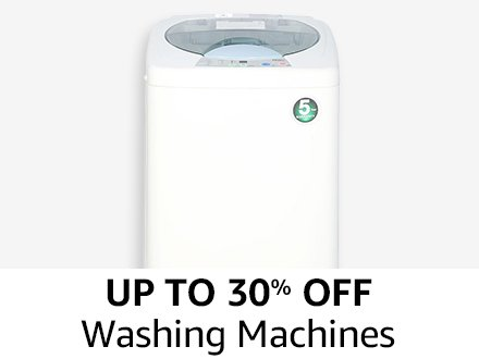 Up to 30% off Washing Machines