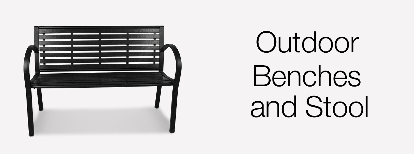 Outdoor benches and Stool
