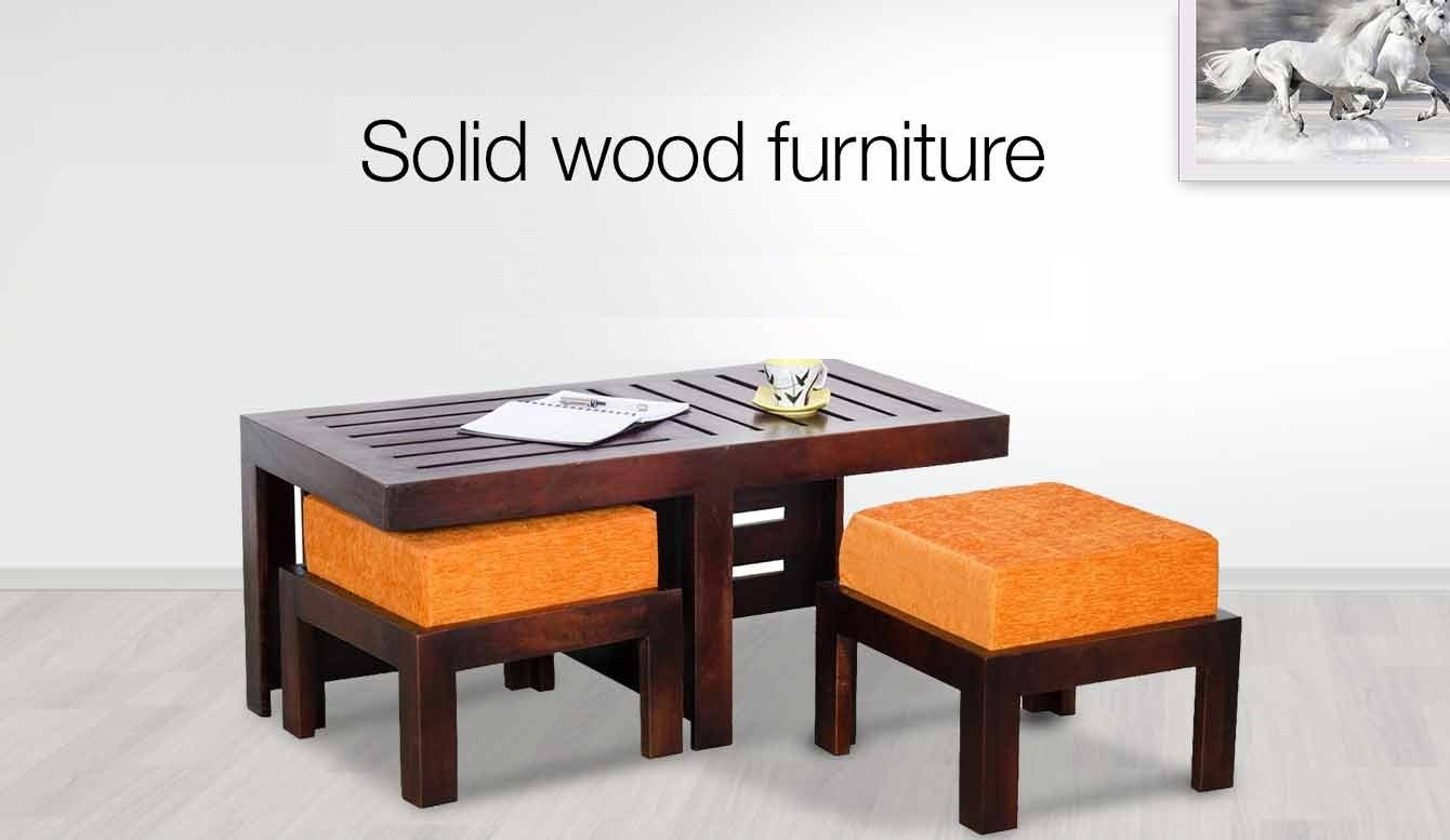Furniture buy furniture online at low prices in india for Solid wood furniture