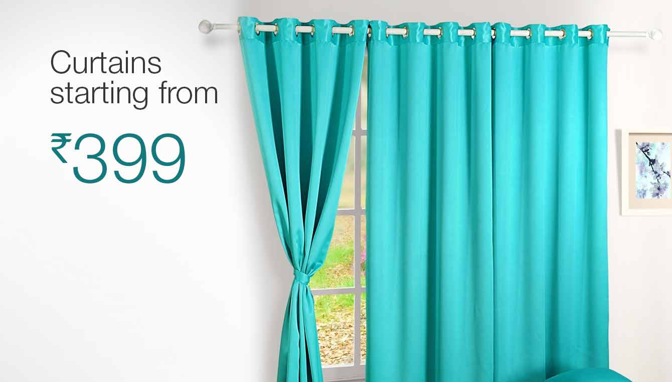 Curtains starting from Rs 399. Home Furnishing  Buy Home Furnishing Online at Best Prices in