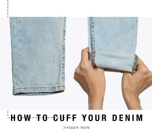 how to cuff your denim
