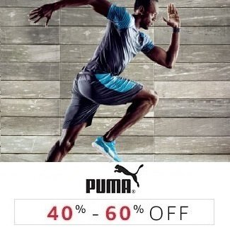 Puma: 40% - 60% off