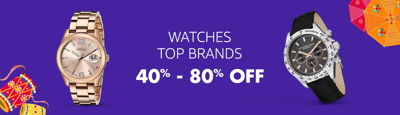 Watches: 40-80% off
