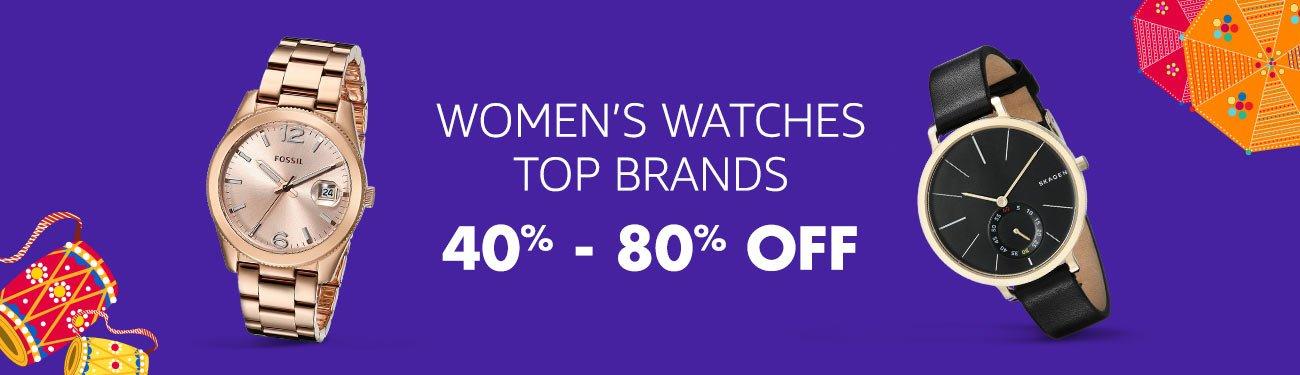 Women's watches: 40-80% off