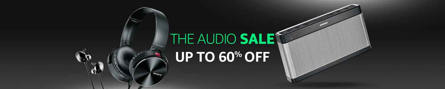 Audio sale up to 60% off on headphones and speakers