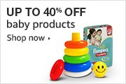 Up to 40% Off Baby Products