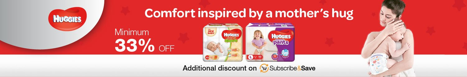 Minimum 33% off Huggies