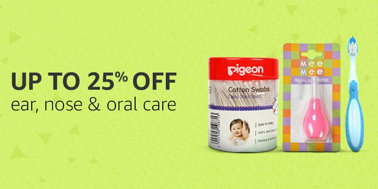 Up to 25% off Ear, Nose & Oral care
