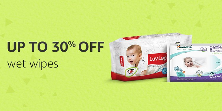 Up to 30% off Wet wipes