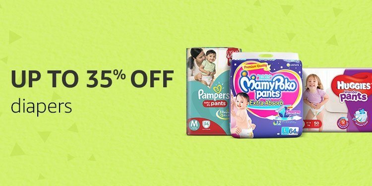Up to 35% off Baby diapers