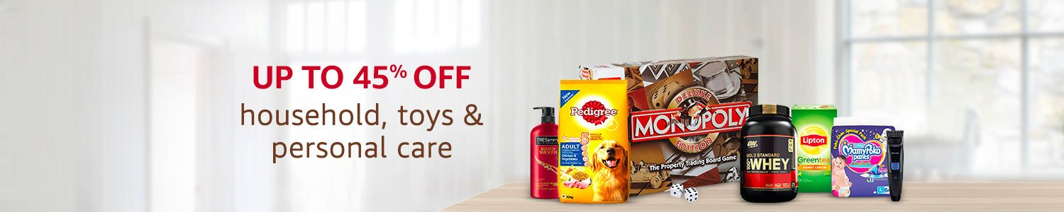 Up to 45% off household, toys & personal care