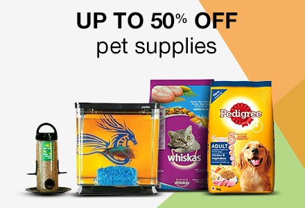 Up to 50% off Pet Supplies