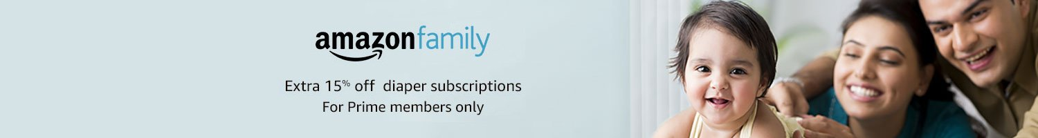 Amazon Family: Extra 15% off diaper subscriptions for Prime members only
