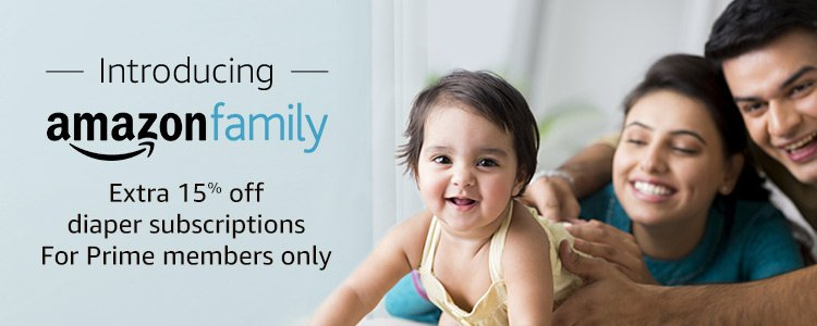 Introducing Amazon Family: extra 15% off diaper subscription for prime members only