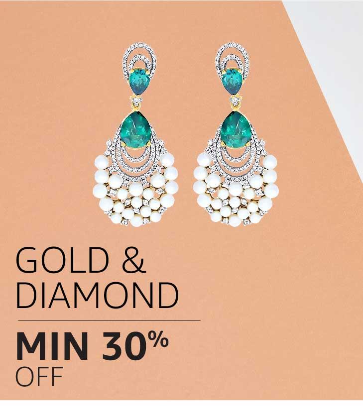 Gold & Diamond Jewelry: Minimum 30% off