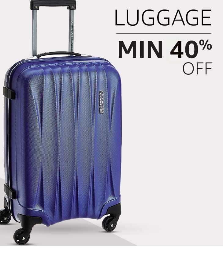 Luggage: Minimum 40% off