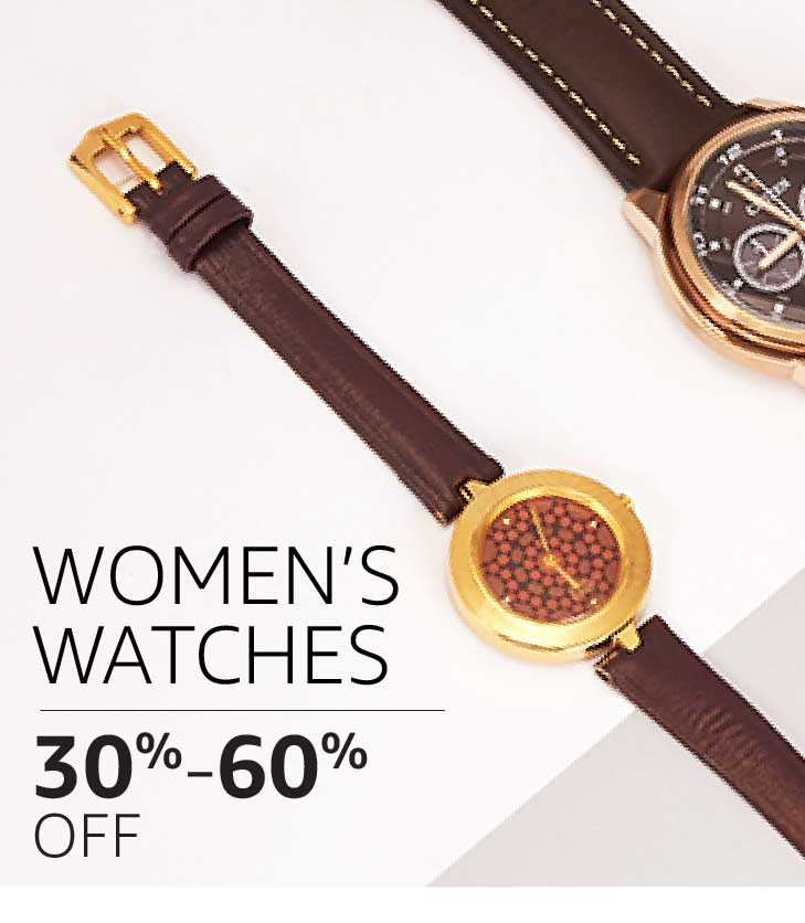 Women's Watches: 30% to 60% off