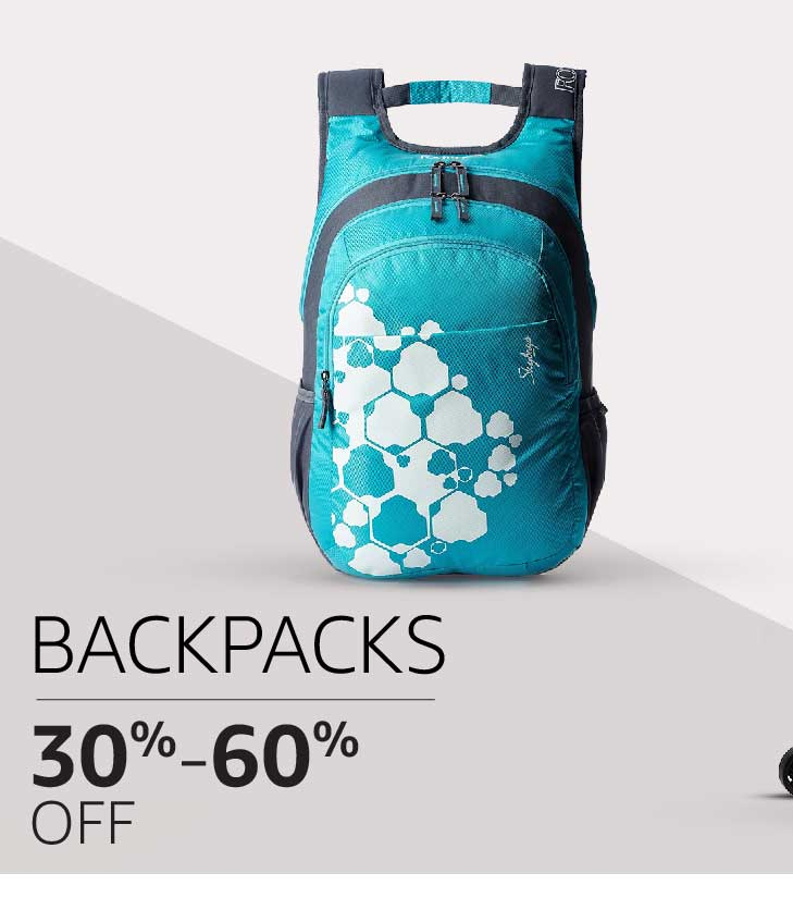 Bags & Backpacks: 30% to 60% off