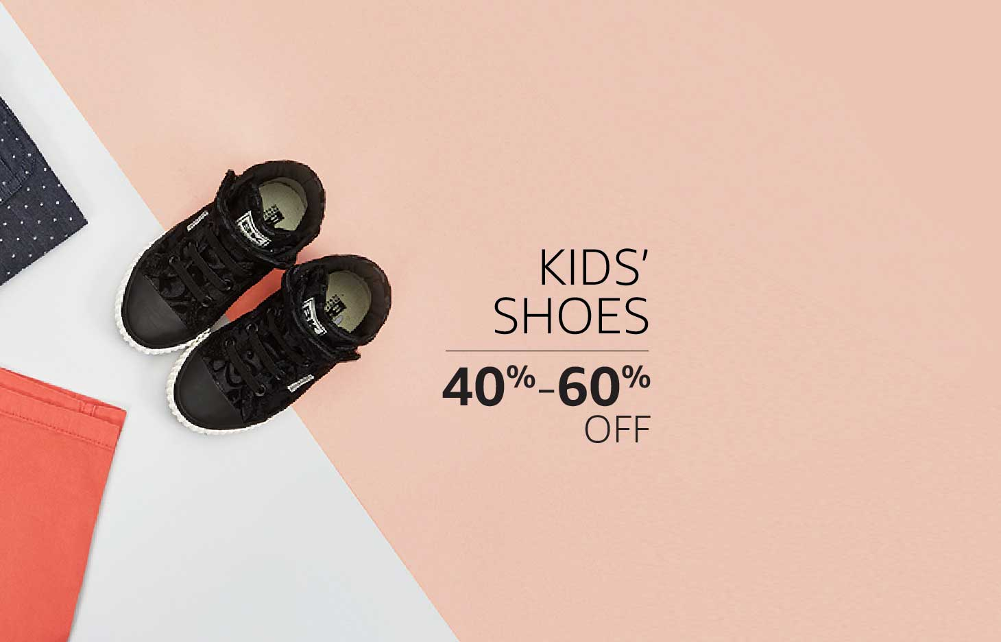 Kids' Shoes: 40% to 60% off