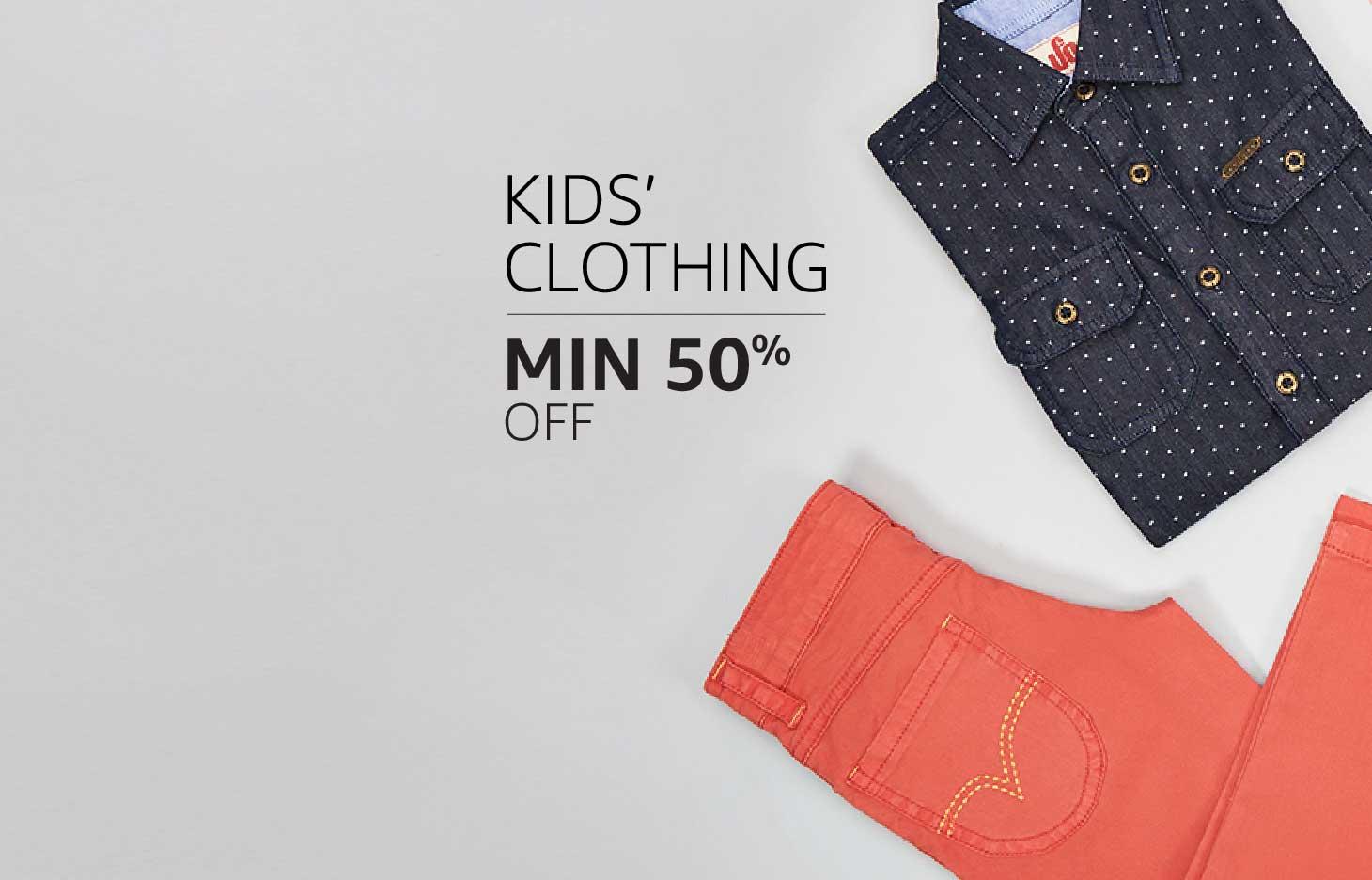 Kids' Clothing: Minimum 50% off