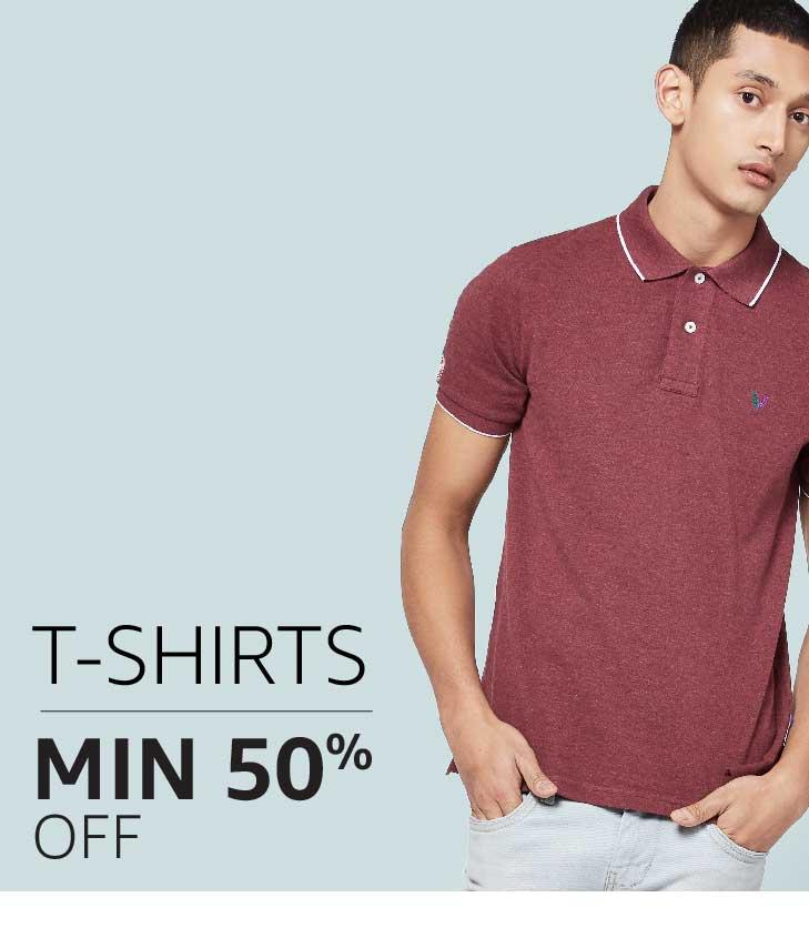 Men's T-shirts: Min 50% off