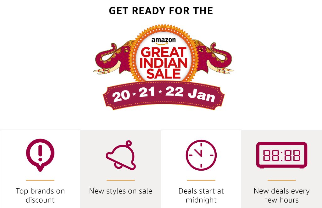 Great India Sale  : Get ready