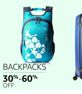 Backpacks: 30% to 60% off
