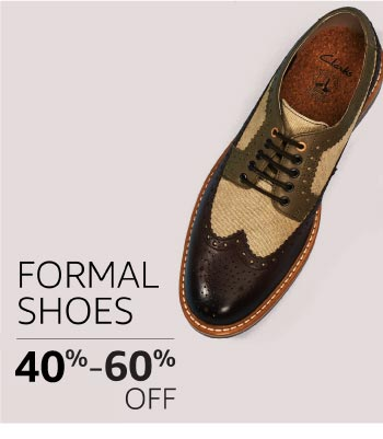 Formal Shoes: 40% to 60% off