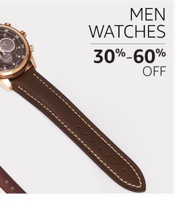 Men's watches: 30% to 60% off