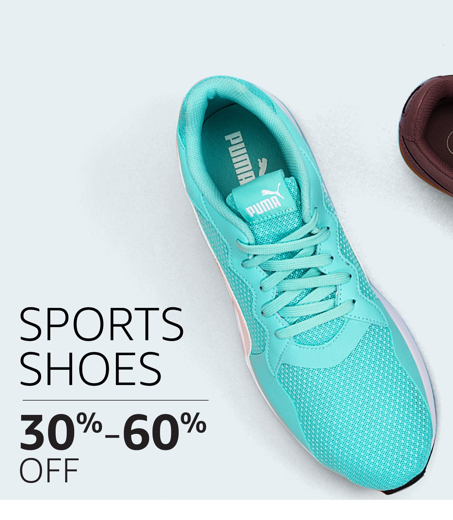 Sports Shoes: 30% to 60% off