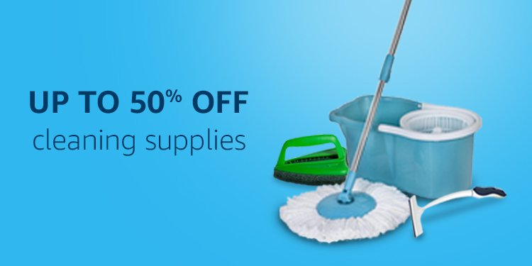 Up to 50% off on cleaning supplies