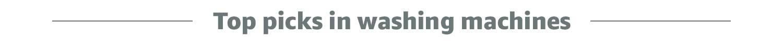 top picks in washing machines