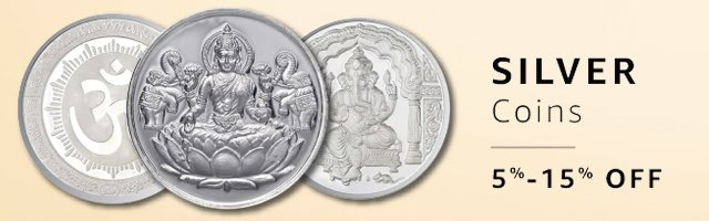 Akshaya Tritiya Special Jewellery : Precious Coins : Silver : 5% off or more