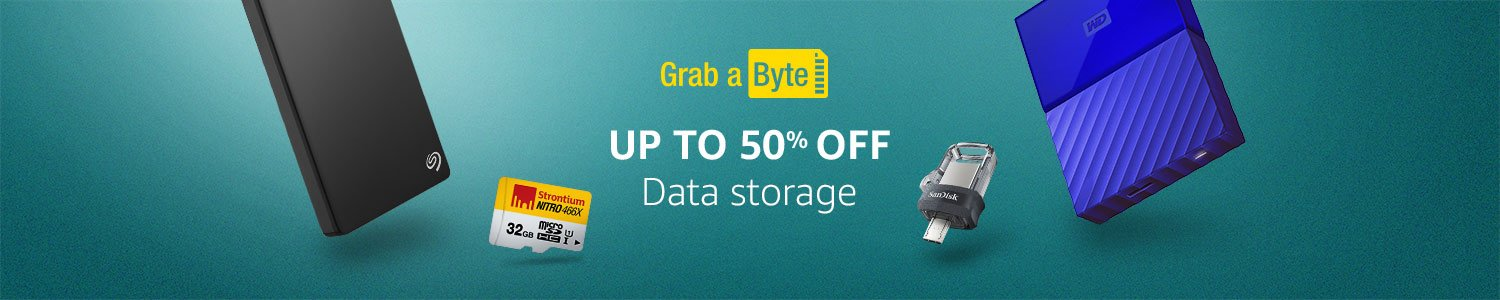 Grab a byte- Up to 50% off Data Storage